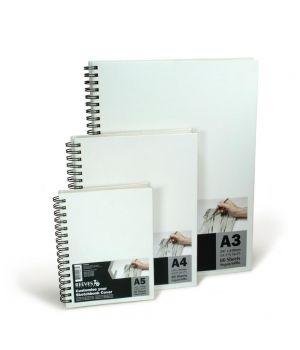 Альбом для эскизов в твердой обложке REEVES, 80 листов, A5, А3, 100 гр/м2, на спирали