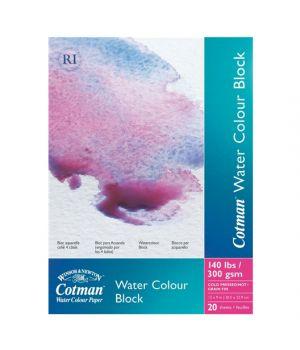 Блок бумаги для акварели Cotman, 254х177, 305х228, 356х254 мм, холодного прессования, 300 гр/м2, 20 листов