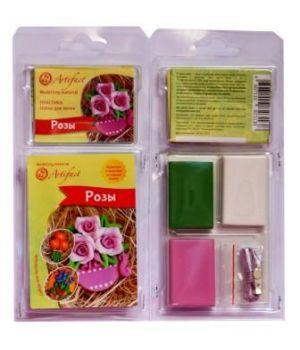 """Набор пластики с фурнитурой и инструкцией """"Коллекция Цветы. Розы"""""""