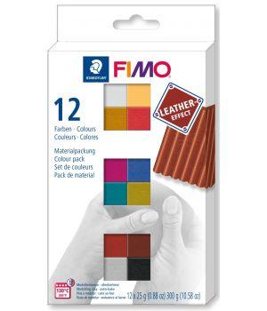 Набор полимерной глины с эффектом кожи FIMO effect  8013 с12-2