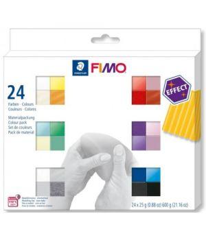 Набор полимерной глины Fimo effect базовый 24*25гр 8013 С24-1