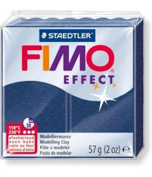 Пластика - полимерная глина FIMO Effect  57г голубой сапфир, металлик (8020-38)