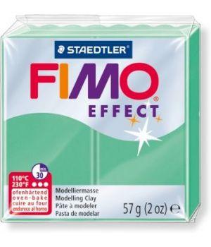 Пластика - полимерная глина FIMO Effect  57г  зеленый нефрит (8020-506)