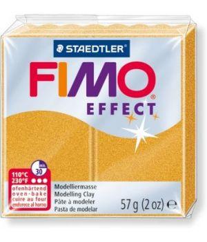 Пластика - полимерная глина FIMO Effect  57г золотой металлик (8020-11)