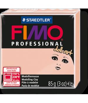 Пластика - полимерная глина FIMO Professional Doll art  85г полупрозрачный розовый (8027-432)