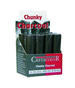"""Большой угольный брусок """"Chunky"""" цилиндрической формы, ПОШТУЧНО, 1/3 шт. упак."""