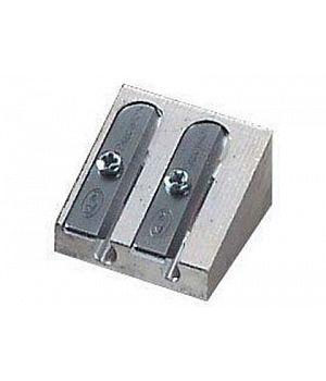 Алюминиевая точилка CretaColor для художественных карандашей, 2 отверстия разного диаметра, 24 шт./упак.