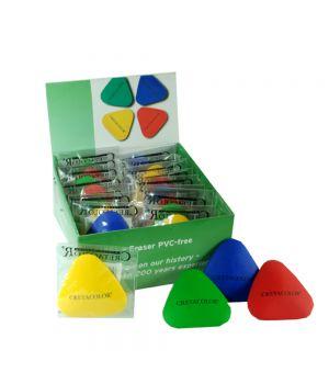 Ластик CretaColor треугольной формы 4-х цветов, картонная коробка