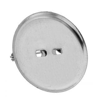 Булавка для броши с круглым основанием (набор 5 шт.), цвет серебро, 25 мм(1353645)