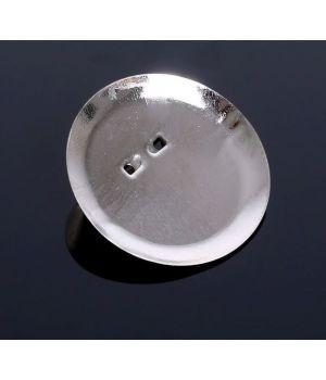 Булавка для броши с круглым основанием (набор 5 шт.), цвет серебро, 35 мм(1882009)