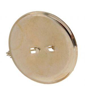 Булавка для броши с круглым основанием (набор 5 шт.), цвет золото, 25 мм (1353644)