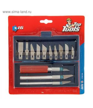 Набор резцов по дереву: 3 ножа + 10 лезвий (1813450)