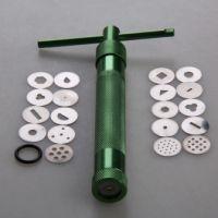 Экструдер металлический для полимерной глины Makin's Профессиональный, 20 насадок в комплекте