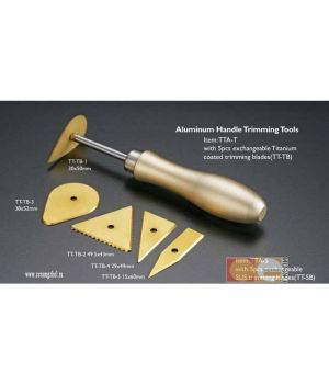 Клюшка для работы с гипсом, 5 сменных насадок, алюмин. ручка, CGTTA-S