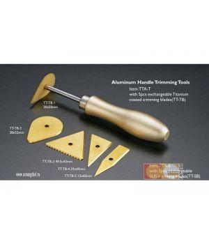 Клюшка для работы с гипсом, 5 сменных насадок, алюмин. ручка, CGTTA-Т
