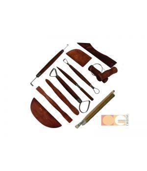 Набор для моделирования 12 шт., (стеки-петля,стеки-ребра, леска, стеки скульпт., кисти) DK11441