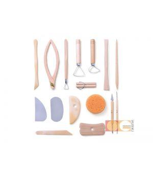 Набор для моделирования, 16 шт.(стеки-ребро,стеки-петля, леска, стеки, кронцирк, губка)