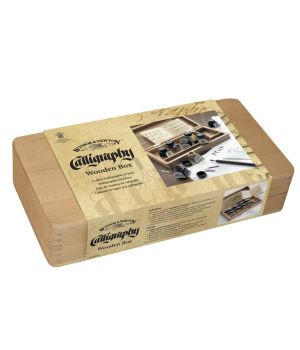 "Набор туши для каллиграфии ""Winsor&Newton"" в деревянной коробке 8х14 мл"