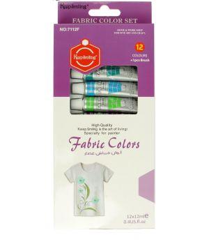 Набор красок по ткани, 12 тюбиков по 12 мл (836755)