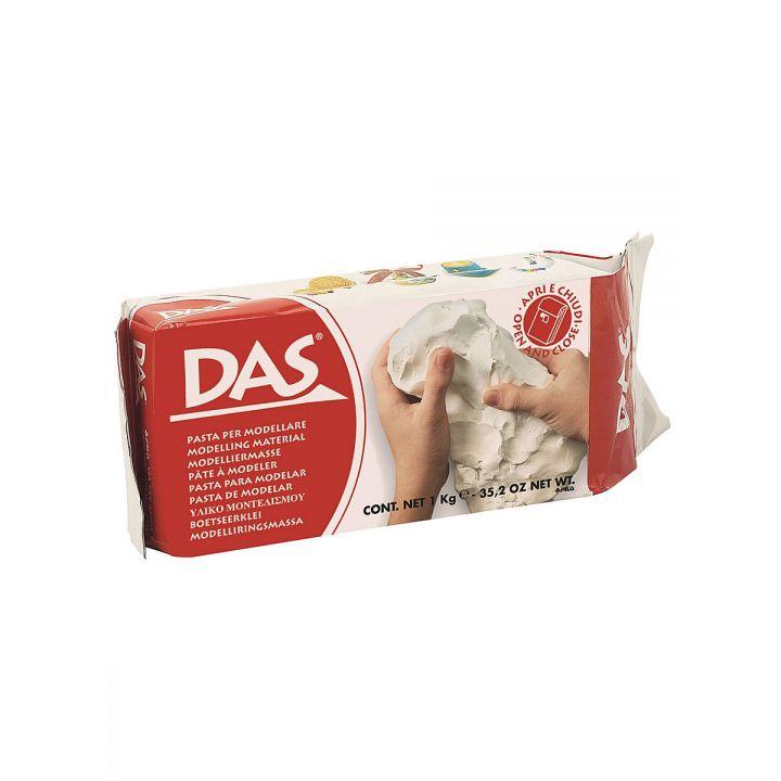 Глина для лепки самозатвердевающая DAS 387000, 1000 г, белая (505632)