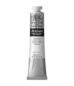 "Масляная водорастворимая краска Artisan цвета ""Белый титан"" в тюбике, 200 мл"