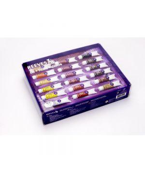 Масляные краски REEVES в подарочной коробке, 36 цветов х 10 мл в тюбиках
