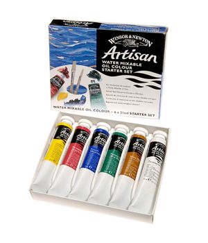 """Масляные водорастворимые краски """"Artisan"""", набор для начинающих 6х21мл"""