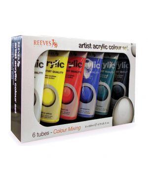 Набор акриловых художественных красок REEVES, 6х200 мл