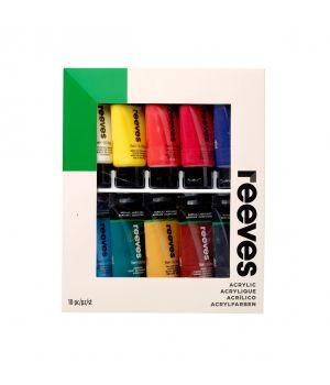 Набор акриловый красок REEVES 10x75 мл, в картонной упаковке