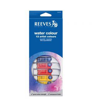 Набор акварельных красок REEVES в тюбиках, 12х10мл, в картонной коробке с европодвесом