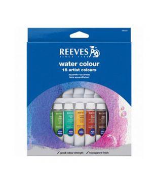 Набор акварельных красок REEVES в тюбиках, 18х10мл, в картонной коробке с европодвесом