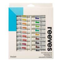 Набор акварельных красок REEVES в тюбиках, 24х10мл, в картонной коробке