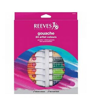 Набор гуаши REEVES в тюбиках, 18х10 мл, в картонной коробке с европодвесом