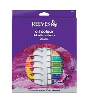 Набор масляных красок REEVES в тюбиках, 24х10мл, в картонной коробке с европодвесом