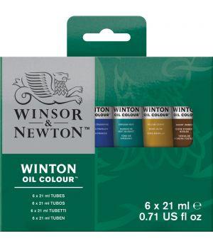 """Набор масляных красок Winton от """"Winsor&Newton, тубы 6x21мл"""