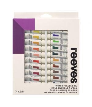 Набор водорастворимых масляных красок REEVES 24x10 мл