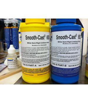 Жидкий полиуретановый полужесткий пластик Smooth-Cast Semi-Rigids 65D (0,86 кг)