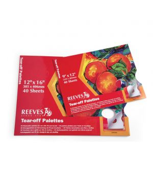 Палитра бумажная REEVES с отрывными листами, 40 листов (22,9х30,5 см)