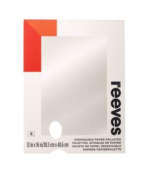 Палитра бумажная REEVES с отрывными листами, 40 листов (30,5х40,6 см)
