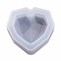Молд силиконовый сердце граненное 9см 050522