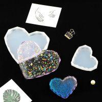 Молд силиконовый подставка сердце граненное 7см 050525