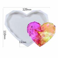Молд силиконовый подставка сердце граненное 12,5см 202035