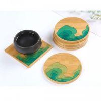 Основа для подставки из бамбука для заливки смолой 8,5*8,5см