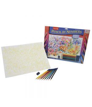 "Набор ""Рисование по номерам. Цветные карандаши"" REEVES (400x300 мм)"