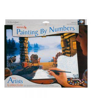 """Наборы """"Рисование по номерам. Художественная коллекция"""" REEVES (акриловые краски) 20 цв."""
