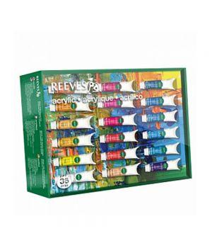 Набор акриловых красок REEVES в тюбиках, 36х10 мл, в подарочной коробке