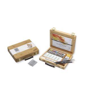 """Набор акварельных красок """"Artists"""" от """"Winsor&Newton"""" в тюбиках в бамбуковой коробке"""