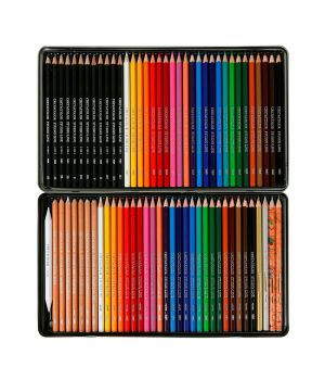 """Набор для рисования """"Artist Studio Line"""" , 71 карандаш (чернографитовые, цветные, акварельные, художественные)+растушевка, металлическая коробка"""