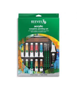 Полный набор акриловых красок REEVES в тюбиках, 24 предмета