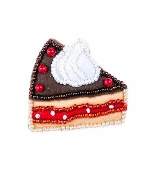 """Набор для изготовления текстильной игрушки """"Шоколадное пирожное"""""""